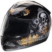 Z1R Jackal Pandora Black Full Face Helmet