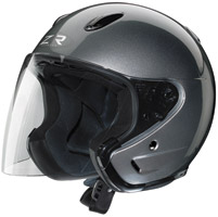 Z1R Ace Dark Silver Open Face Helmet