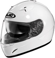 HJC IS-16 White Full Face Helmet with Sun Shield