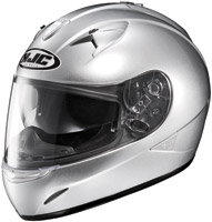 HJC IS-16 Silver Full Face Helmet with Sun Shield