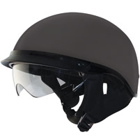 Zox Alto DDV Matte Black Half Helmet with Drop Down Visor