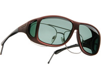 Cocoons Aviator X-Large Burgundy Frame Sunglasses