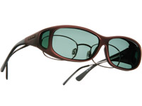 Cocoons Mini Slim Sm/Med Burgundy Frame Sunglasses