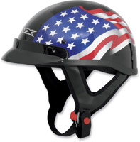 AFX FX-70 Freedom Flag Gloss Black Half Helmet