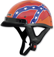 AFX FX-70 Rebel Flag Gloss Orange Half Helmet