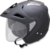 AFX FX-50 Flat Black Open Face Helmet