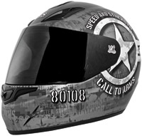Speed and Strength SS1000 Call to Arms Matte Black Full Face Helmet