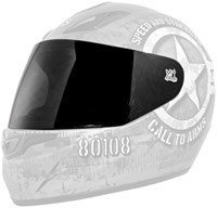 Speed and Strength Silver Faceshield