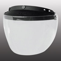Z1R Universal Three-Snap Clear Shield Visor