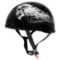 Skid Lid Original Biker Skull Black Half Helmet