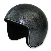 HCI-10 Glitter Dark Silver Open Face Helmet