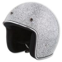 HCI-10 Glitter Light Silver Open Face Helmet