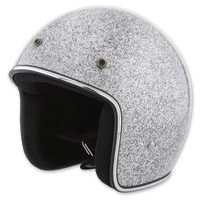 HCI-10 Glitter Light Silver Open Face Helmet