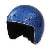 HCI-10 Glitter Blue Open Face Helmet