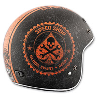 Speed and Strength SS600 Speed Shop Black/Orange Helmet