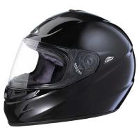 "Zox Tavani ""R"" Gloss Black Full Face Helmet"