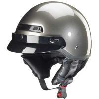 Zox Banos Gloss Titanium Half Helmet