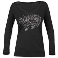 Speed and Strength American Beauty  Women's Black Long-Sleeve Tee