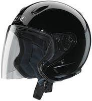 Z1R Ace Black Open Face Helmet