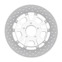 Roland Sands Design Raid Chrome Two-Piece Front Brake Rotor, 11.5