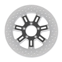 Roland Sands Design Del Mar Contrast Cut Ops Two-Piece Rear Brake Rotor, 11.8