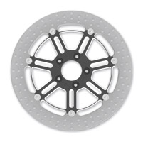 Roland Sands Design Del Mar Contrast Cut Ops Two-Piece Front Brake Rotor, 13