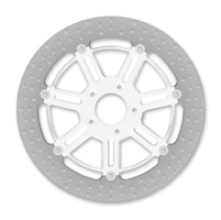 Roland Sands Design Raid Chrome Two-Piece Front Brake Rotor, 13