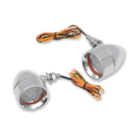 Custom Dynamics Chrome Mini Bullet LED Turn Signals with Amber LEDs