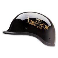 HCI-105 Designer Polo Pink Butterfly Half Helmet