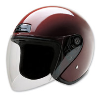 HCI-20 Wine Open Face Helmet with Shield