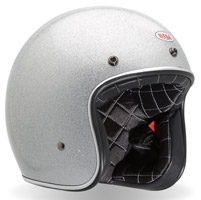 Bell Custom 500 Flake Silver Open Face Helmet
