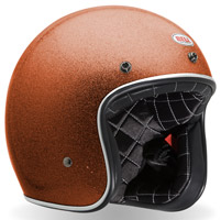 Bell Custom 500 Flake Orange Open Face Helmet