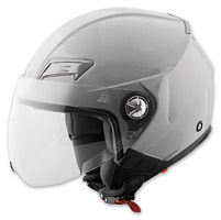 Speed and Strength SS650 Solid Speed Gloss Silver Open Face Helmet
