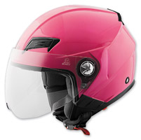Speed and Strength SS650 Solid Speed Gloss Pink Open Face Helmet
