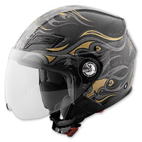 Speed and Strength SS650 Heart & Soul Black/Gold Open Face Helmet