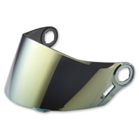 LS2 Gold Mirror Outer Visor for FF385/387/392/396 Helmets