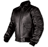 AGV Sport Bomber Black Leather Jacket