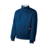 Gerbing's Heated Clothing Men's Coreheat7 Blue/Silver Softshell Jacket