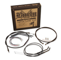 Burly Brand Black Clubman Bar Cable/Brake Kit