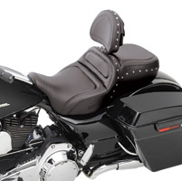 Saddlemen Explorer Special Low Profile Studded Seat with Driver Backrest