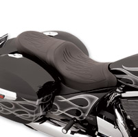 Drag Specialties Predator 2-Up Flame Stitch Seat