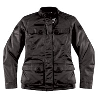 ICON Women's 1000 Akorp Resin Black Jacket