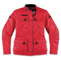 ICON Women's 1000 Akorp Mischief Red Jacket
