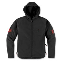 ICON Men's Hoodlux Black Jacket