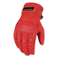 ICON Men's 1000 Beltway Red Gloves
