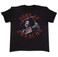 Sons of Anarchy Reaper Charge Black T-Shirt