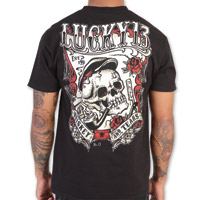 Lucky-13 Whiskey and Tears Black T-shirt