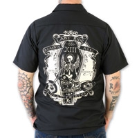 Lucky-13 Ride in Peace Men's Black Work Shirt