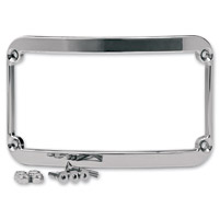 Klock Werks Chrome License Plate Frame