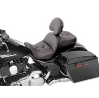 Saddlemen Road Sofa Deluxe Low Profile Touring Seat with Driver Backrest